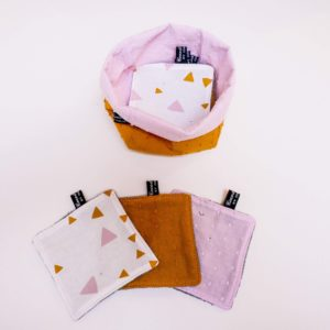 Panier moutarde rose coco&cocotte